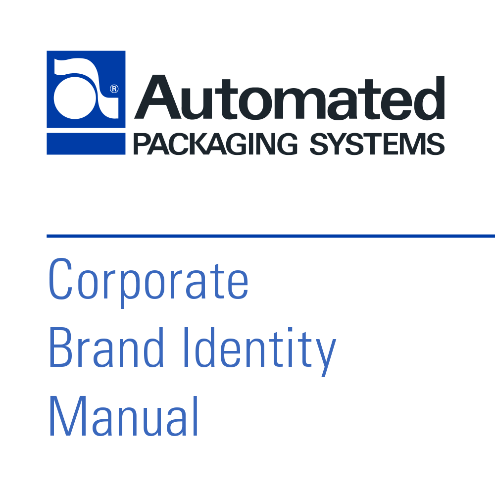 Automated Packaging Systems Corporate Branding Guide