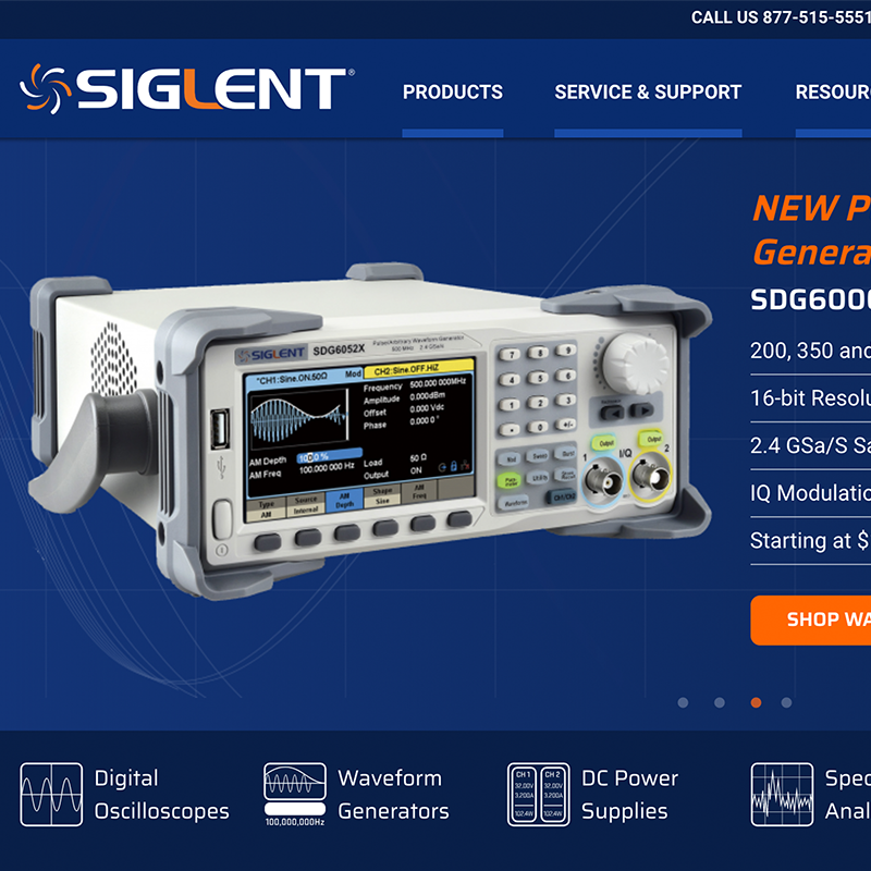 SIGLENT America & Europe Websites